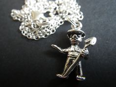Smokey Bear- Smokey the Bear- .925 Sterling Silver- Necklace- Forestry- Forester- Wildfire- Summer- Camping- Father's Day- Dad- Man Gift by CassieVision on Etsy https://www.etsy.com/listing/213590214/smokey-bear-smokey-the-bear-925-sterling