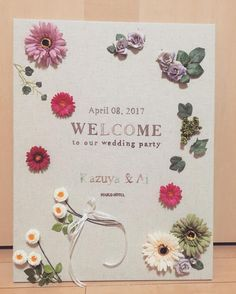 結婚式で手作りしたい!刺繍のウェルカムボードの可愛いデザインまとめ | marry[マリー]