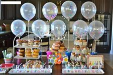 "DIY 12"" 36"" Clear Latex Balloons Giant Confetti Ballon Party Supply Helium Float"