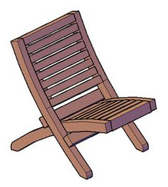 Portable Redwood Beach Chair