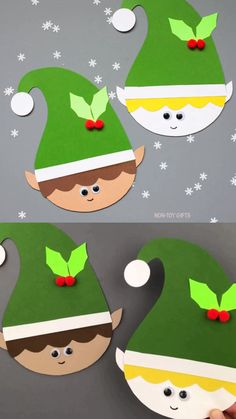 christmas crafts videos Paper elf craft for preschoolers, kindergartners and older kids. Elf craft template available. Easy paper Christmas craft for the classroom. Christmas Arts And Crafts, Christmas Crafts For Toddlers, Winter Crafts For Kids, Holiday Crafts, Christmas Time, Christmas Crafts For Kindergarteners, Christmas Crafts For Kids To Make At School, Christmas Crafts For Kids To Make Toddlers, Kindergarten Christmas Crafts