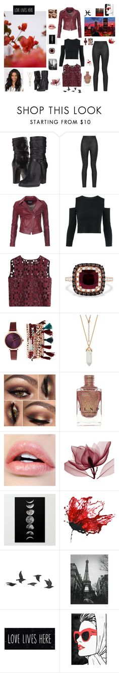 """""""What's Black and White, and Rojo all over?"""" by shaina-elise-hamby ❤ liked on Polyvore featuring GUESS, Armani Jeans, GUINEVERE, Barbour International, Alberta Ferretti, Effy Jewelry, Jessica Carlyle, Jayson Home and Oliver Gal Artist Co."""