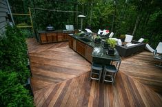 How to Build Outdoor Kitchen Cabinets? - How to Build Outdoor Kitchen Cabinets? Modern Outdoor Kitchen, Build Outdoor Kitchen, Outdoor Kitchen Cabinets, Modern Deck, Outdoor Living, Outdoor Kitchens, Contemporary Patio, Backyard Kitchen, Wooden Kitchen