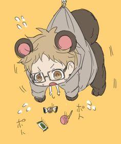 Haikyuu Nishinoya, Tsukishima Kei, Haikyuu Funny, Haikyuu Manga, Haikyuu Fanart, Anime Manga, Anime Guys, Cute Anime Chibi, Kawaii Chibi