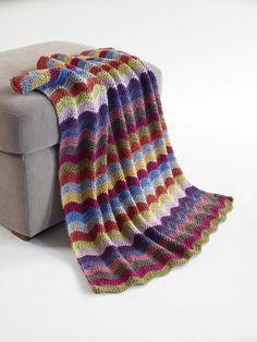 Baby Ripple Afghan Pattern (Crochet) - Lion Brand Yarn