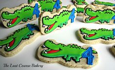 Green Alligator Cookies        via Flickr on the last course bakery Generic shape