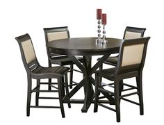 Willow Collection   Black Counter Dining SetEnzo 5 Piece Dining Set from Slumberland Furniture  What a great  . Sienna Collection Black Counter Dining Table. Home Design Ideas