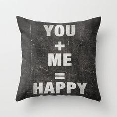 You Plus Me Pillow Cover by Happy Pillow Shop