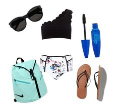 """""""?"""" by cam20 ❤ liked on Polyvore featuring NIKE, Abercrombie & Fitch, River Island, Yves Saint Laurent and Marysia Swim"""