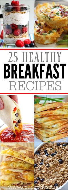 Find nutritious and healthy breakfast ideas here. 25 healthy breakfast recipes t… Find nutritious and healthy breakfast ideas here. 25 healthy breakfast recipes that kids will love. Make mornings easier with these easy breakfast ideas. Healthy Breakfast Desayunos, Breakfast On The Go, Health Breakfast, Best Breakfast, Breakfast Cooking, Easy Kid Breakfast Ideas, Clean Eating Breakfast, Quick And Easy Breakfast, Breakfast Smoothies