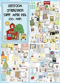 Classroom Organization Super Mega Pack – 76 files – 1150+ pages – PDF file    This file is a record breaking 1319 pages!   Your file includes 76 files all designed by Clever Classroom.    I aim to save you time and energy with this blockbusting bundle of classroom organizational resources.    Please read through the description carefully, view the images and download the preview file to help you decide if this pack is appropriate for your classroom, this year. $25.00
