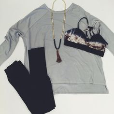 """Comfy ✔️Cute ✔️ #tiedye #bralette #oversizetee #whatsnew #leggings"""