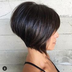 Short Dark Bob Hair