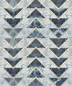 The Wish List - Art Deco by Perch & Parrow Chevron triangle details - this would make a stunning floor design. Floor Patterns, Tile Patterns, Textures Patterns, Floor Design, Tile Design, Art Deco, Marble Pattern, Deco Design, Stone Tiles