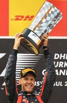 Piloto Sebastian Vettel, Red Bull Renault, Turkey 2011