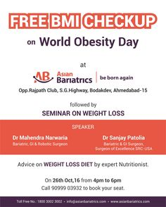 Free body composition analysis on #worldobesityday #weightloss seminar at Asian Bariatrics.