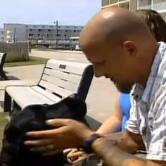 Jared Goering, a 19-year military veteran, was ticketed and kicked off a New Jersey boardwalk by a cop who told him service dogs weren't allowed.
