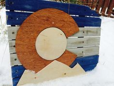 Reclaimed/Rustic Colorado Flag Wooden by by ColoRADocarved on Etsy #colorado #homemade #christmas #christmasdeals #mountains #coloradoflag #christmasincolorado #art