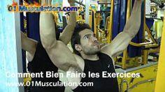 EXERCICE POUR LES DORSAUX: TIRAGES À LA POULIE HAUTE http://www.01musculation.com/MusculationTV/gagner-du-muscle/exercice-pour-les-dorsaux-tirages-a-la-poulie-haute/