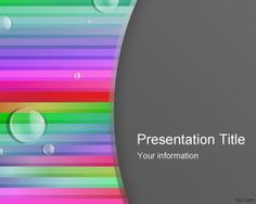 Free color lines PowerPoint template with bubbles is a colorful style for PowerPoint presentations that you can download for presentations in Microsoft PowerPoint