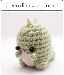 crochet dinosaur plush soft sculpture ornament by mohustore Crochet Kawaii, Bunny Crochet, Crochet Mignon, Crochet Dinosaur, Cute Crochet, Crochet Crafts, Knit Crochet, Dinosaur Toys, Dinosaurs