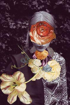Ashkan Honarvar (1980) is een kunstenaar geboren in Iran, maar woont en werkt tegenwoordig in Nederland en Noorwegen. In 2007 studeerde Honarvar af aan de Hogeschool voor de kunsten in Utrecht. Dit werk is in samenwerking gemaakt met stilist Kathi Kauder en fotograaf Sabrina Theissen voor het 'I Love You Magazine.' Wat mij voornamelijk aanspreekt is de collage techniek, en de combinatie die er is gemaakt tussen mode en natuur. Ook is er slim en mooi gebruik gemaakt van kleur.