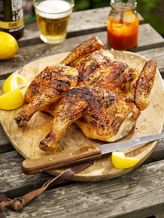 Make your barbecue affordable by grilling this whole spatchcocked chicken marinated in hot sauce and lemon.