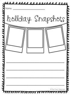 Holiday Recount Writing Templates - Holiday Snapshots