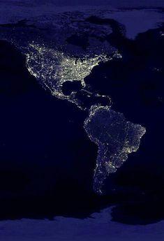 As américas vistas do espaço...