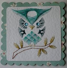 Stitched Owl Card