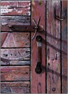 Textures and Colors: Amish Barn Door and Latch -- Paul Wolber