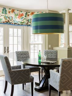 Design by Hudson Interiors. Custom Bufta Big Light by Stray Dog Designs.