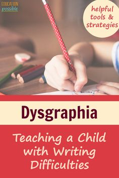 Does your child struggle with Dysgraphia? There are many ways you can help a child with dysgraphia i Writing Strategies, Writing Skills, Essay Writing, Writing Lessons, Kids Writing, Teaching Writing, Writing Activities, Autism Learning, Learning Disabilities