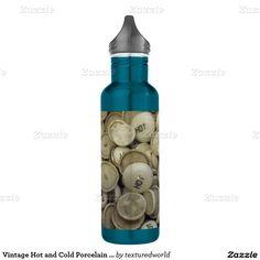 Vintage Hot and Cold Porcelain Knobs 24oz Water Bottle