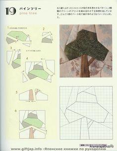 Japonesa - 156 - Pamela Toro - Picasa Web Albums Tree Quilt Pattern, Paper Pieced Quilt Patterns, Patchwork Patterns, Quilt Block Patterns, House Quilt Block, House Quilts, Rustic Quilts, Vintage Quilts, Modern Quilt Blocks