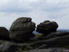 Kissing Stones, Bleaklow, Peak District, UK; photo by topdogdjstew on flickr.
