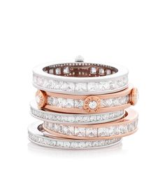 deluxe hand me down stack ring - designer rings - fashion rings for ladies