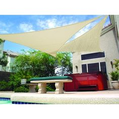 Protect your family and friends from the sun's harmful UV rays while providing a comfortable, cool spot of shade. This pebble shade sail is a snap to hang u. $40