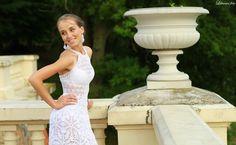 Crocheted NEW white unique marvelous wedding dress door LaimInga