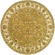 <li>Update your home decor with a hand-tufted rug</li> <li>Floor rug features a traditional design</li> <li>Area rug displays stunning accents of green, gold and rust</li>