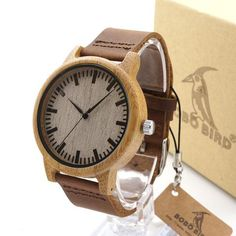 The Classic 2.0 Bamboo watch is for the man who loves simplicity and elegance whilst indulging on the better things in life.  With a slightly darker face than 'The Classic' utilising a different wood grain shows a bit more class but the same classic feel.Take the tradition of simplicity and give it an amazing new look with this Genuine Bamboo and Leather.What makes these watches even more of a must-have is they are all 100% different and the colour will age with their owner.  This is