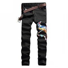36.86$  Buy now - https://alitems.com/g/1e8d114494b01f4c715516525dc3e8/?i=5&ulp=https%3A%2F%2Fwww.aliexpress.com%2Fitem%2F2017-sosoo-new-biker-men-jeans-black-jeans-embroidery-phoenix-pattern-jeans-slim-fit-personality-classic%2F32768497335.html - 2017 sosoo new biker men jeans black jeans embroidery phoenix pattern jeans slim fit personality classic rap jeans pant