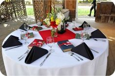 Table Setting techniques for a wedding