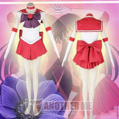 Another Me™ Anime Sailor Moon Rei Hino / Sailor Mars Fancy Dress Cosplay Costume