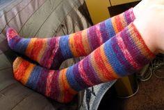 "Size - Women = s shoe size 5 to 11, (Men = s shoe size 8 to 12) Materials - Approx. 275 yards sock yarn One 40"" circ..."