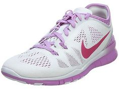 Nike Free 5.0 Tr Fit 5 Breathe Womens 718932-101 White Fuchsia Shoes Size 6