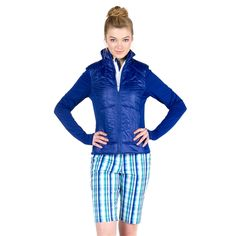 GG Blue Nicky Jacket and Cascade Ashley Golf Short | #Golf4Her #GolfClothes #Fall14 #OOTD