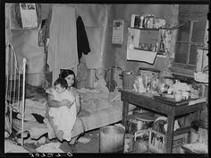 Interior of Mexican sugar beet worker's home. East Grand Forks, Minnesota. 1937