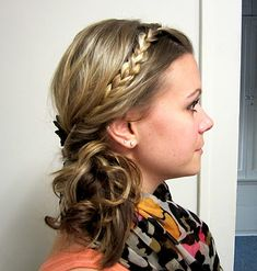 Braided side topsy tail...I sent Sidney to school with her hair like this yesterday :)