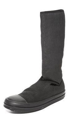 Rick Owens DRKSHDW Men's Sock Sneakers, Black, 43 EU (10.5 D(M) US Men)
